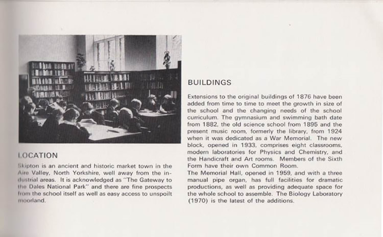 History of the library at Ermysteds