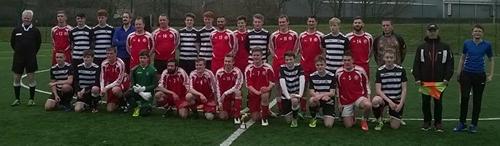 old boys football match